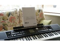 roland bk-5 backing keyboard, music rest, power pack, manual. mint. hardly used.