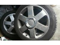 """17"""" audi alloy wheels & tyres"""