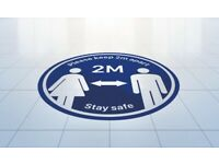 ANTI SLIP ⚠️ Vinyl Sticker 1 Pack ⚠️ Social Distancing Floor 🇬🇧 FREE DELIVERY Shop Sign Queue