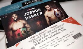 Boxing Fight Package for 4 people (4 TICKETS AND 4*HOTEL) Anthony Joshua vs Parker fight - Cardiff