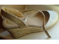 Baby Blue Wedges, size 5