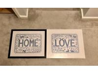 Two ikea frames with pictures