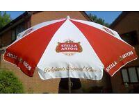 Stella Artois Parasol Pub Garden Umbrella 6' Strong Aluminium Pole Can be posted