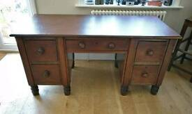 Large antique desk, vintage desk, home office, workspace