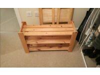 Wooden built pine shoerack