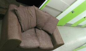 quality fabric sofa hardly used £60 tel 07756327622