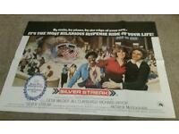 "Original 70's ""Silver Streak"" UK Cinema Quad Poster"