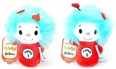 Hallmark Itty Bittys Dr Seuss Cat in the Hat Thing 1 and 2 Plush Set!