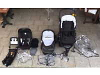 Britax B Smart Travel System baby seat buggy pram