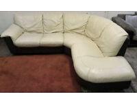 Dfs genuine leather corner sofa. Can deliver