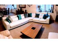 Leather Corner Sofa by Nicoletti