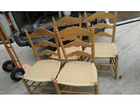 8 dining chairs £75