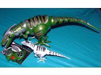 "RoboRaptor. 32"" Interactive dinosaur with remote and Mini Raptor"