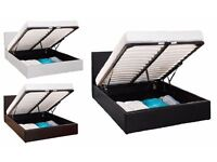 **FREE DELIVERY* DOUBLE LEATHER STORAGE BED IN BLACK BROWN WHITE COLOUR **MEGA SALE FOR CHRISTMAS***