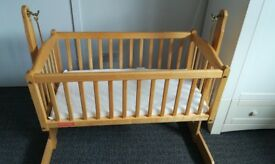 Baby Wooden Swinging Crib