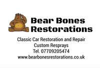Bear Bones Restorations - Classic car repair and restoration, body work, crash repair
