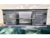 Upcycled dark grey cabinet