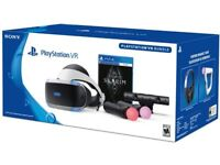 PSVR BUNDLE WITH CAMERA, MOVE CONTROLLERS AND 4 GAMES