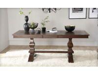Beautiful Walnut Wood Extendable Dining Table - Unused