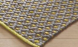 Habitat grey and yellow rug 120x180