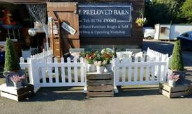 White Plastic Picket fencing x4