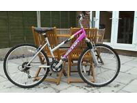 "LADIES RALEIGH MOUNTAIN BIKE, 26""WHEELS,GOOD CONDITION"