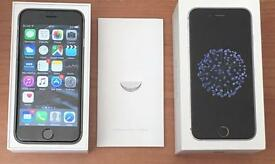 Boxed Unlocked Apple IPhone 6 - 16GB- Space Grey on all networks Sim Free Smartphone