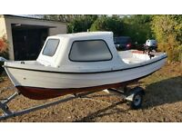 Orkney Spinner with good Trailer with Outboard Motor in VGC, Many extras