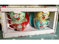 Cath Kidston cup and saucer set BNIB