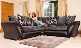 🔥FLAT 70% OFF🔥BRAND NEW SHANNON CHENILLE FABRIC+LEATHER CORNER OR 3 + 2 SEATER SOFA -SAME DAY DROP