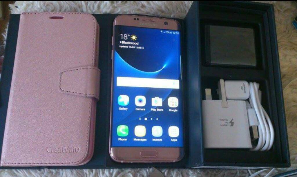 samsung galaxy s7 edge rose gold any network in blackwood caerphilly gumtree. Black Bedroom Furniture Sets. Home Design Ideas