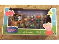 Peppa Pig classroom play set with 7 figures. Immaculate condition as new and unopened. £4.00