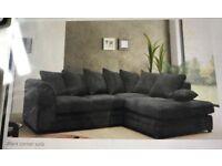 Dark Grey (almost black) corner sofa