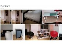 House Clearance : Chairs, Kitchen Stools, TV furniture, Beds, Lights, ..