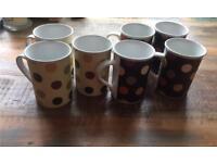 7 x Cappuccino/ tea cups