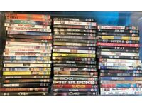 130 DVDS (FILMS + TV SERIES + COMEDY + DOCUMENTARIES IN NEW/EXCELLENT CONDITION)