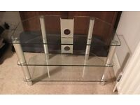 TV Stand - Clear glass