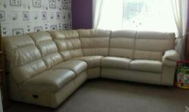 Very large leather corner sofa