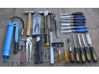 Joblot of Tools in good used condition. Hammers, Chisels and more.