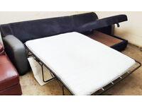 Corner Sofa-Bed Navy Blue/Grey. Can delibver
