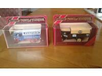 2 Matchbox models of yesteryear steam lorry toy vehicles