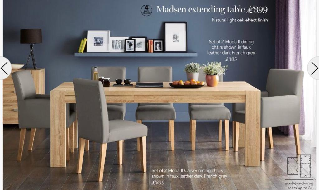 Next Madsen Extending Dining Table Oak Wood