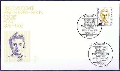 Berlin 1989: Cecile Voigt! FDC der Nr. 848 mit zwei Ersttagssonderstempeln! 1710