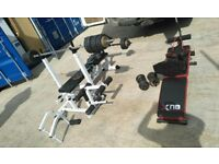 assorted gym equipment £160 the lot / no offers