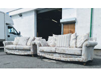 Pair of SCS duresta style 3.5 seater sofas DELIVERY AVAILABLE