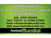 Six a side Football Administrator