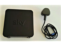 Sky Wireless ADSL Broadband Router; Model SR102; Hub, Mains Cable & Connect Card