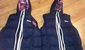 11/12 years body warmers.great condition.