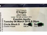2 x premium circle seats - d'angelo, london £210