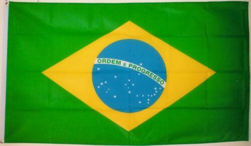 BRAZIL FLAG 3X2 Rio De Janeiro Brazilia Brazilian flags